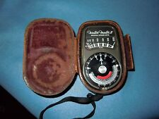 Weston Master II Universal Exposure Meter Model ~735~ Leather Case Enclosed