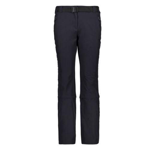 CMP Femmes ZIPOFF Pant Pantalon Stretch ANTRACITE-Nero