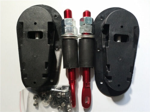Details about  /Universal Racing Car Plus Flush Mount Hood Latch Steel Pin No Key Locking Kit