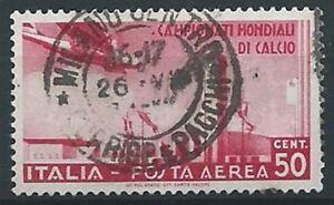 1934-REGNO-USATO-POSTA-AEREA-CALCIO-50-CENT-ED460