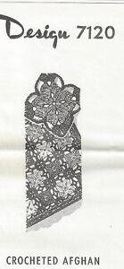 Crocheted-Afghan-Pattern-7120-Vintage-New-Flower