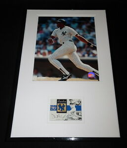 Dave Winfield Framed 11x17 Game Used Bat & Photo Display Yankees