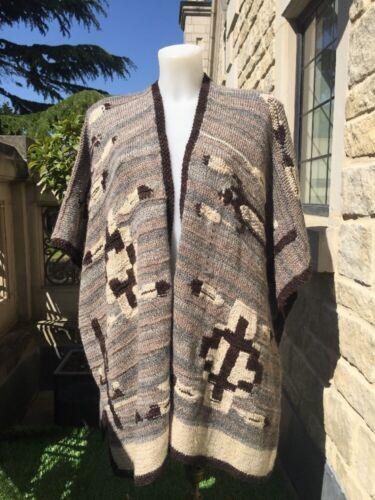 l Tribal Ponco Indian Wrap Knit Cape Ralph Sweater Hand M Blanket £299 Lauren Agnx6q8