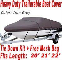 Maxum Marine 2000/sr 2000 Sr Trailerable Boat Cover Grey Color Z107