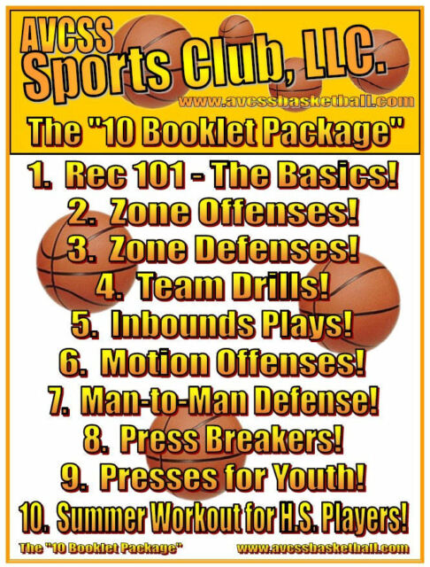 Youth Basketball Coaching Resource, 10 Booklet Package, Drills, Limited Offer!