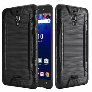 For-Alcatel-Pixi-Theatre-Shockproof-Armor-Brushed-Case-Tempered-Glass-Screen