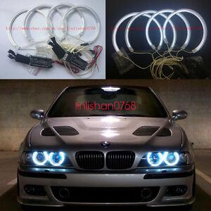 4x bmw e39 e46 3 5 series xenon white headlight ccfl angel eyes halo rh ebay com And BMW E36 E39 What Are BMW Angel Eyes