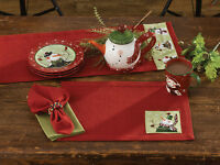 Napkin Set Of 4 - Winter Buddies By Park Designs - Christmas Snowman