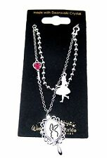 New Alice in Wonderland Swarovski ® Crystal Necklace✿Walt Disney Park Authentic