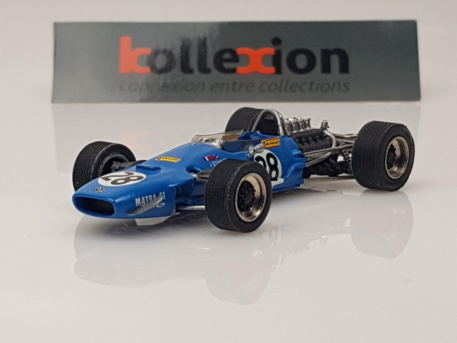 TENARIV 281 MATRA MS10 n°28 GP F1 France 1968 J. J. J. Stewart 1.43 | Des Performances Fiables  | Belle Qualité  c36484