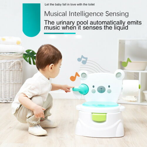 Baby Toilet Trainer Child Toddler Kid Music Seat Potty Training Chair Portable