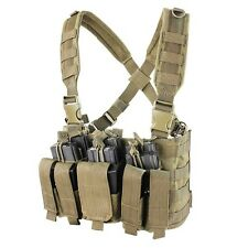 CONDOR Tan MCR5 MOLLE 5.56 .223 Magazine Holster Rapid Assault Chest Rig Vest