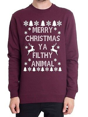 Merry Christmas Ya Filthy Animal Christmas Jumper, Home Alone Inspired Present