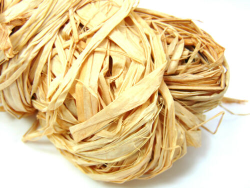 50 Grams Ribbon Raffia Natural Colour Floral Crafts Flowers Gift Wrap FREE P+P