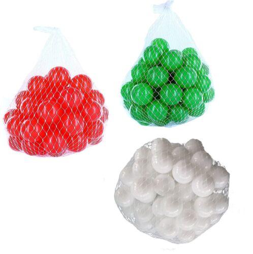 150-9000 Bällebad Bälle 55mm mix weiß grün rot gemischt Farben Baby Kind