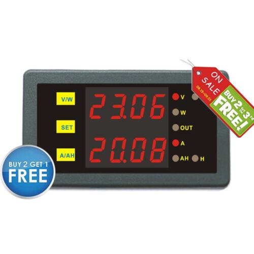 Battery Monitor DC 200V100A Voltmeter Ammete AMP Power AH Battery Voltage Gauge