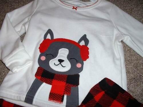 5aa16be3b CARTERS BABY GIRLS Fleece Winter Dog Pajama Set Size 24 Months 24M ...