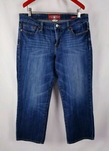 Lucky-Brand-Sweet-N-Crop-Jeans-Carpi-Size-10-30-Dark-Wash-Womens
