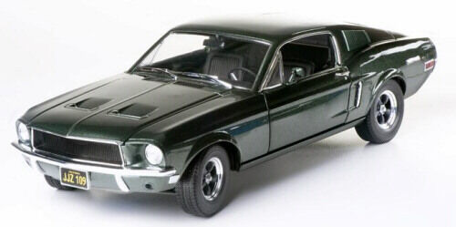 1 1 1 18 Greenlight Bullitt Green 1968 Ford Mustang GT Steve Mcqueen Item 12822 3c2735