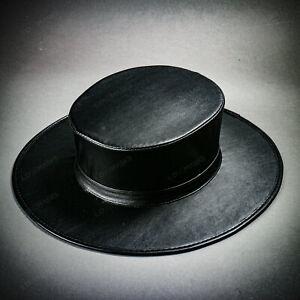 Steampunk-Plague-Doctor-Flat-Top-Hat-Black