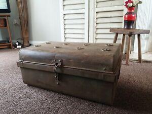 Steamer Trunk Tin Chest Blanket Box
