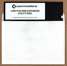 Commodore 1700/1750 128k/512k RAM Expansion Unit C128 5.25 Utilities Floppy Disk