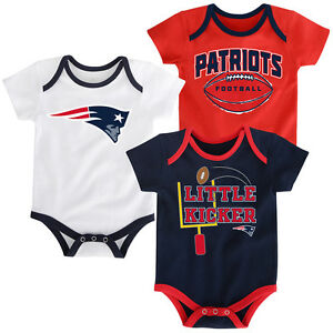 cozy fresh 8170d 30b88 Details about New England Patriots Baby Infant 3-Piece Bodysuit Creeper Set  Newborn