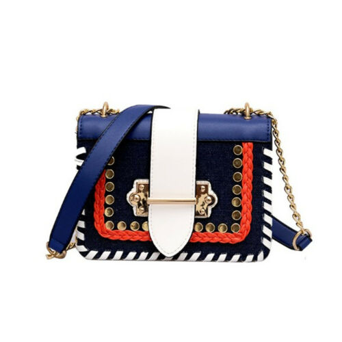 Luxury Multicolor Womens Shoulder Messenger Bags Handbags Bag PVC Rivet Handbags