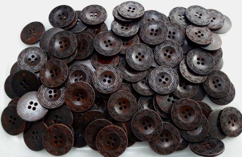 15mm 18mm 23mm 25mm Cobre Envejecido Rústico Filigrana De Metal 4 botones de agujero MB193A-D X