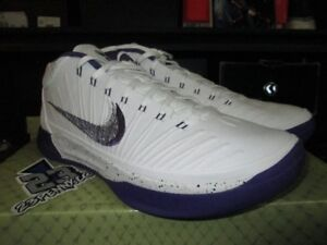 online store 3c08d c54c3 Image is loading SALE-NIKE-KOBE-AD-WHITE-COURT-PURPLE-BLACK-
