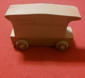 Details about Handmade Unfinished Wood Train Set Cars