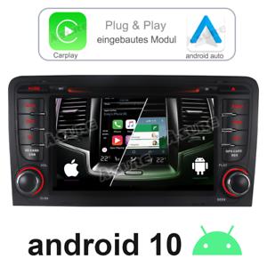 Für Audi A3 S3 RS3 8P 8V 8PA 32G Android 10.0 Autoradio DVD RDS GPS Nav WiFi DAB