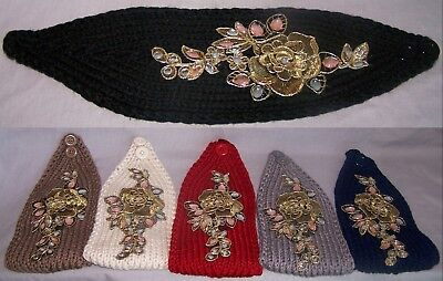 Head Wraps Ear Warmers Winter  6Pc Lot HB7050  Z Knitted Jeweled Head Bands