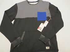 VANS MUIR SWEATSHIRT Mens Size MEDIUM M Black Gravel Cobalt VN-0UOWE17