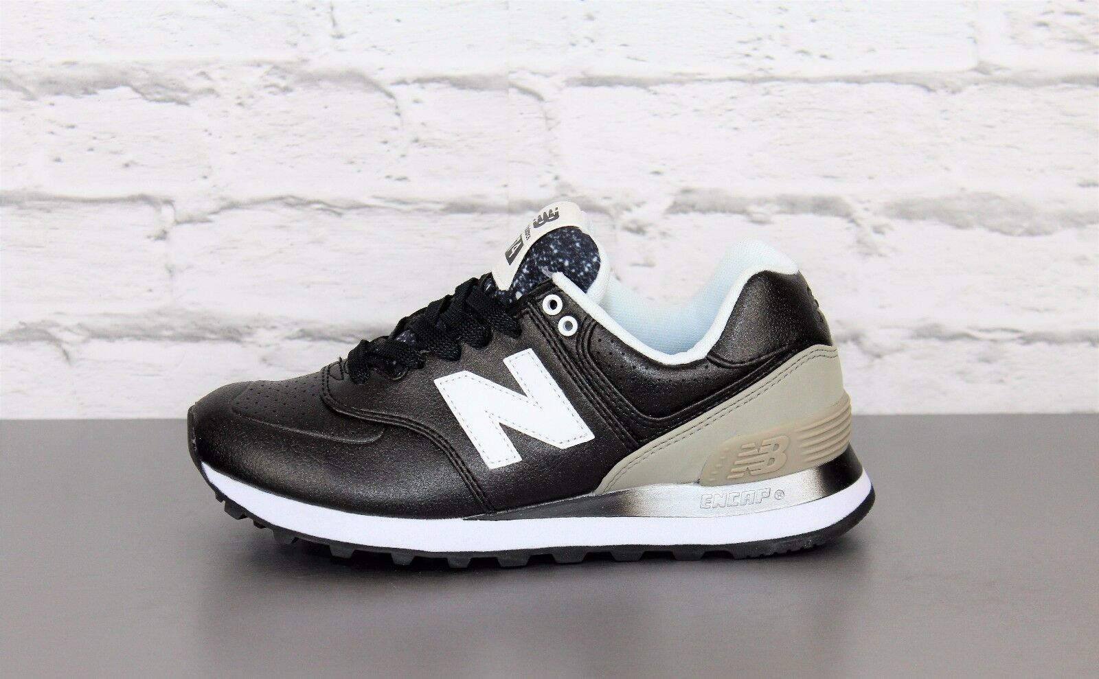 Zapatos señora new balance wl574raa negro cortos zapatillas zapato bajo zapatos