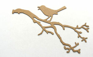 Tim Holtz Bird Branch Raw White Chipboard Die Cut Embellishment stickers avail.