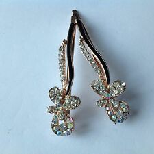 Quality Rose gold Diamant Flower Kirby Hair Clip Pin Slide Grip Girl Ladie Party