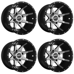 4-ATV-UTV-Wheels-Set-12in-Sedona-Storm-Machined-4-110-5-2-IRS