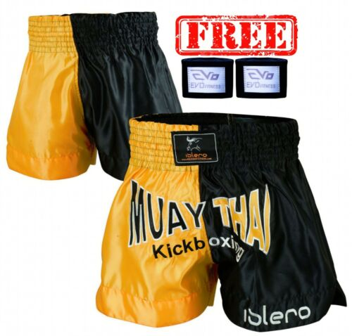 ISLERO Muay Thai Shorts MMA Fight Kick Boxing Grappling Martial Arts Gear UFC H