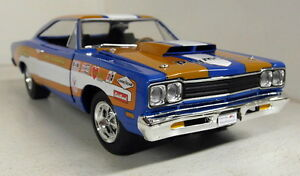 Autoworld 1/18 Scale Aw220 / 06 1969 Plymouth Roadrunner Voiture miniature de Don Grotheer 849398007327