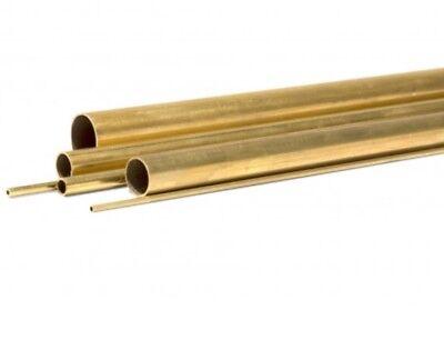 Tubo tondo ottone naturale mm26x1,0 mt 1 tornio fresa cnc hobby modellismo casa