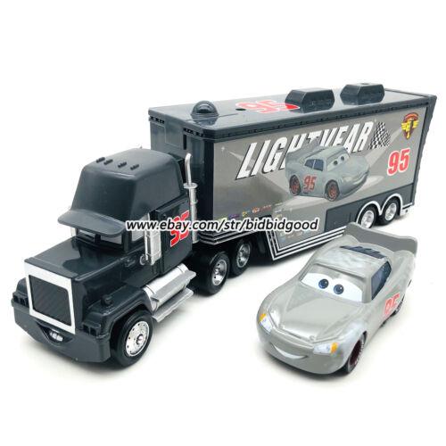 Disney Pixar Cars McQueen Grey No.95 Hauler Truck 1:55 Diecast Model Loose Toy