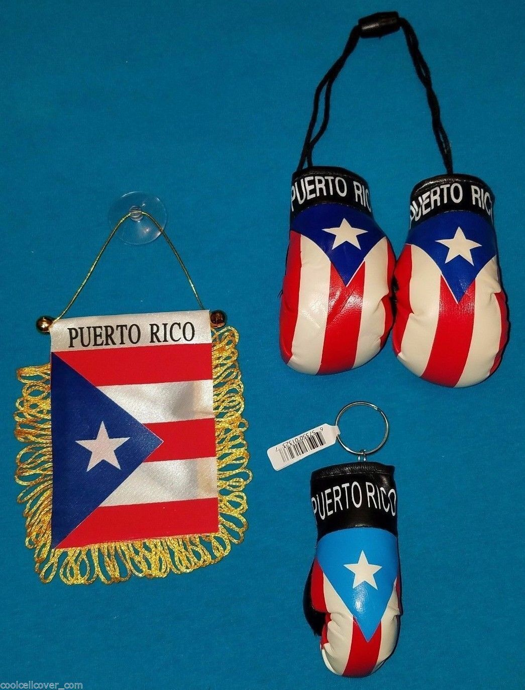 Lot of 3 Puerto Rico Souvenir Boricua Rican FLAG - KEYCHAIN - BOXING ...