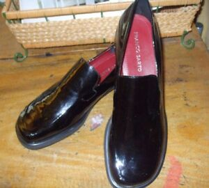 95a56f35521 NEW Franco Sarto Sz 8.5 N Black Patent Leather Bocca Loafer Women s ...