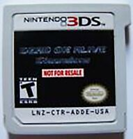 3ds Dead Or Alive Not For Resale Rare Game Demo