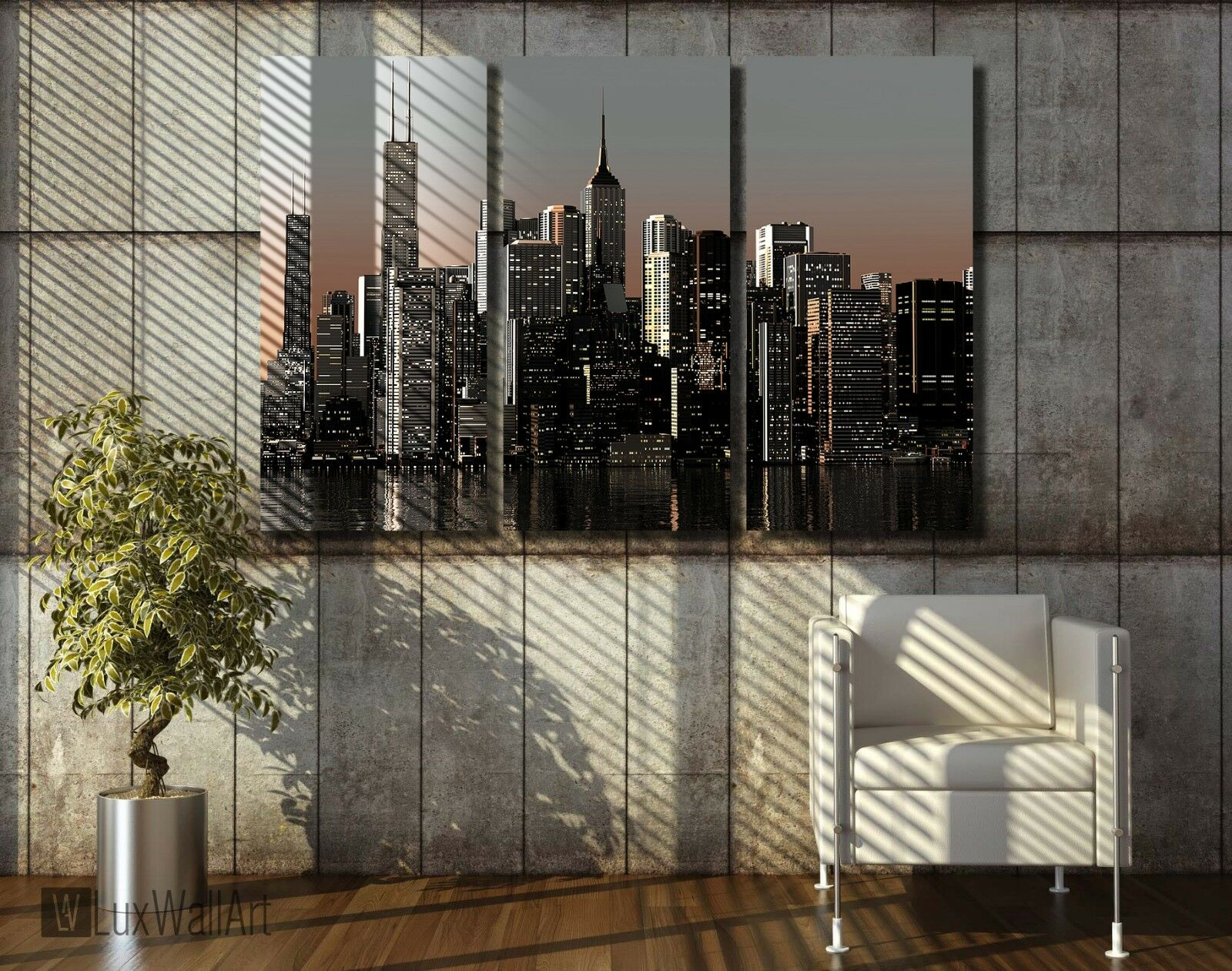 City Night Wall Art Metal Print Decor Ready to Hang