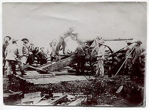 Photo-Boer-War-South-Africa-1899-1902-Creusot-Long-Tom-at-Mafeking-1899