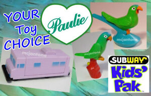 LOOSE-Subway-1998-PAULIE-Bird-Movie-BLUE-FRONTED-Front-CONURE-Parrot-CHOOSE-TOY