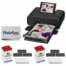 Canon SELPHY CP1300 Compact Photo Printer (Black) +2x KP-108IN Color Ink & Paper