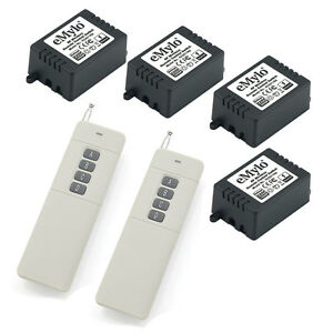 AC-220V-4X1CH-Relays-Wireless-Smart-Remote-Control-Long-Distance-2-Transmitter